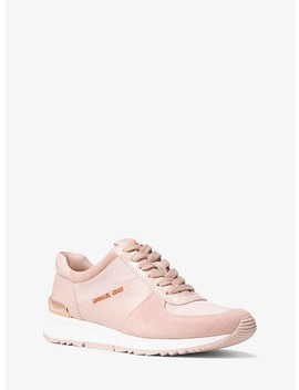 Allie Leather And Canvas Sneaker by Michael Michael Kors
