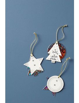 Yuletide Glittering Gift Tags, Set Of 3 by Anthropologie