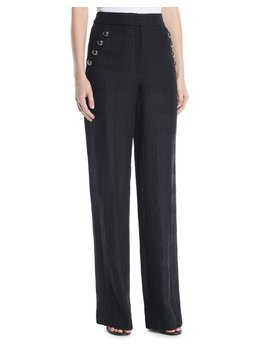 Tuli High Rise Check Straight Leg Pants by Veronica Beard