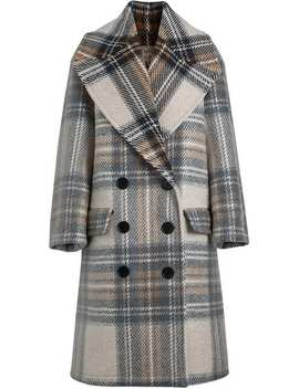 Burberry Check Wool Tailored Coathome Women Burberry Clothing Double Breasted & Peacoats by Burberry