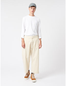 Studio Nicholson Suede Head Pants Cream by Other