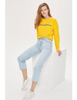 Bleach Straight Cropped Jeans by Topshop