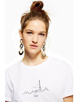 Paris Embroidered Skyline T Shirt by Topshop