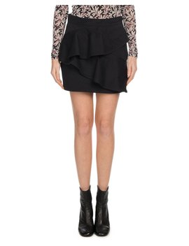 Doali Flounce Cotton Mini Skirt by Etoile Isabel Marant