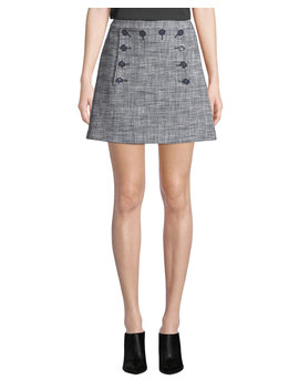 Maida Check Sailor Short Skirt by Neiman Marcus