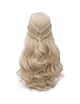 Probeauty 2017 New Long Braid Curly Women Cosplay Wigs +Wig Cap by Probeauty
