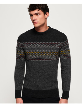 Falster Fairisle Crew Jumper by Superdry