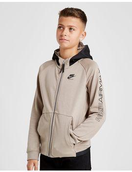 Nike Air Max Poly Zip Through Hoodie Junior by Nike