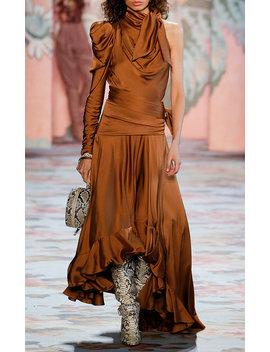 Draped Satin Cutout Dress by Zimmermann