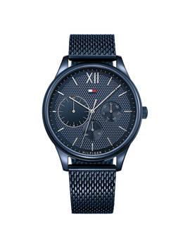 Tommy Hilfiger Men's Damon Single Chronograph Day Mesh Bracelet Strap Watch, Blue 1791421 by Tommy Hilfiger