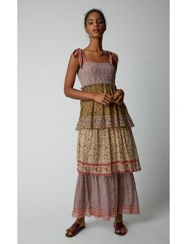 Juniper Tiered Printed Silk Dress by Zimmermann
