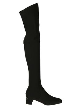 Prada Zipped Over The Knee Boots by Prada