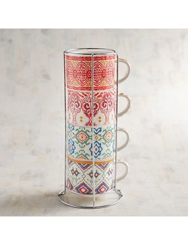Spirited Ikat Stacking Mugs Set by Pier1 Imports