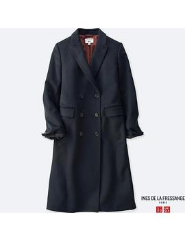 Women Wool Blend Coat (Ines De La Fressange) by Uniqlo