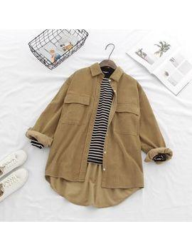 Hanrabong   Dual Pocket Corduroy Shirt by Hanrabong
