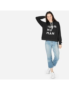 The 100 Percents Human French Terry Hoodie In Large Print by Everlane