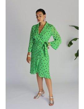 Ganni Dainty Georgette Wrap Dress by Garmentory