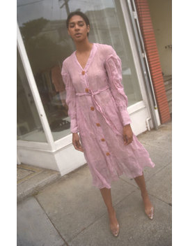 Veronique Leroy Crinkled Cotton Silk Dress by Garmentory