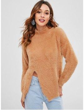 Slit Mohair Sweater   Deep Peach by Zaful