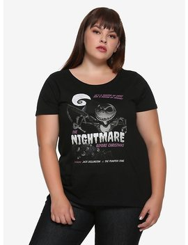 The Nightmare Before Christmas Jack B Movie Poster Girls T Shirt Plus Size by Hot Topic