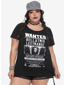 Harry Potter Bellatrix Lestrange Wanted Poster Girls T Shirt Plus Size by Hot Topic