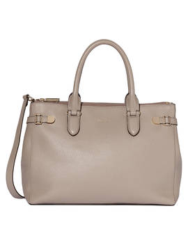 Modalu Emerson Leather Large Grab Bag, Mink by Modalu