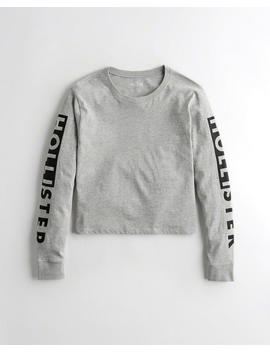 Logo Crop Graphic Tee by Hollister
