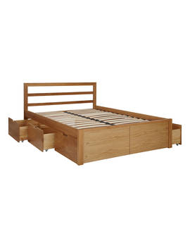 House By John Lewis Ollie Storage Bed, King Size, Oak by House By John Lewis