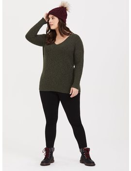 Olive Strappy Back Sweater by Torrid