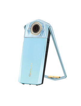 Casio Exilim Ex Tr80 Light Blue   The Ultimate Selfie Camera by Casio