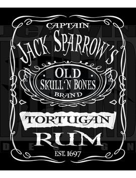 Pirates Of The Caribbean Rum Jack Sparrow Hooded Sweatshirt Hoodie by Etsy