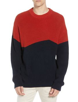 Asymmetrical Colorblock Sweater by French Connection