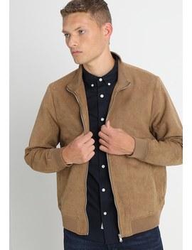 Suedette Funnel Neck Jacket   Kunstlederjacke by Burton Menswear London