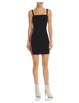 Track Stripe Body Con Dress   100 Percents Exclusive by Sunset & Spring