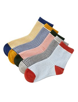 Striped Socks 5pairs by Romwe