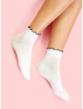 Frill Trim Socks by Romwe