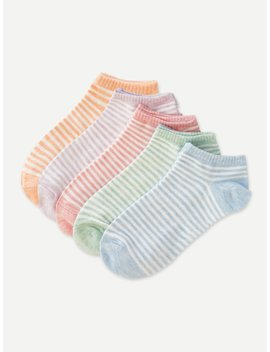 Striped Sock 5pairs by Romwe