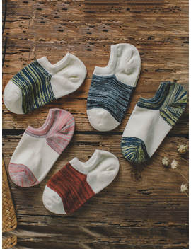 Space Dye Invisible Socks 5pairs by Romwe