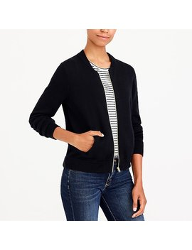 Bomber Sweater Jacket by J.Crew