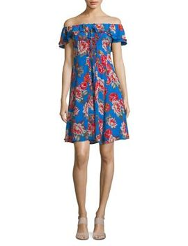 Floral Print A Line Dress by Astr The Label