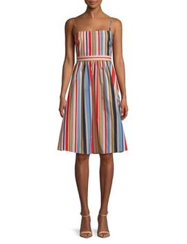 Striped A Line Dress by Astr The Label
