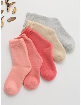 Plain Socks 5pairs by Romwe