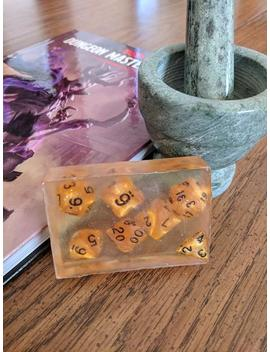Large Bars Of Clear Soap With Full Set Of Dice Inside by Etsy