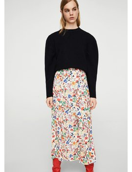 Floral Wrapped Skirt by Mango
