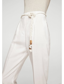 Drawstring Baggy Trousers by Mango