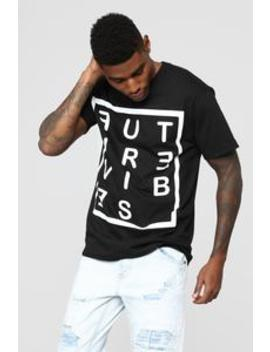 Future Vibes Short Sleeve Crew Tee   Black by Fashion Nova