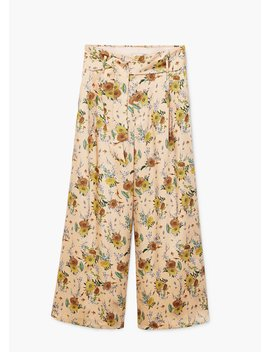 Floral Palazzo Trousers by Mango