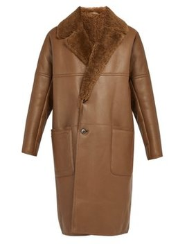 Shearling Lined Leather Coat by Berluti