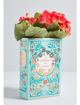 A Compendium Of Flowers Ceramic Vase by Chronicle Books