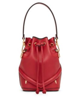 Mon Tresor Embossed Eye Bucket Bag by Fendi